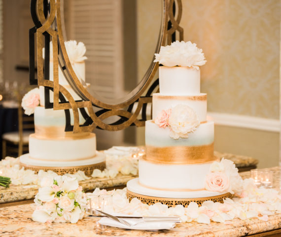A Glamorous Spring Wedding Cake by Cinderella Cakes